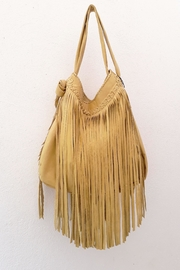 Areias Leather Yellow Fringes Bag - Product Mini Image