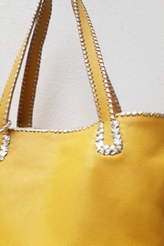 Areias Leather Yellow Tote Bag - Other