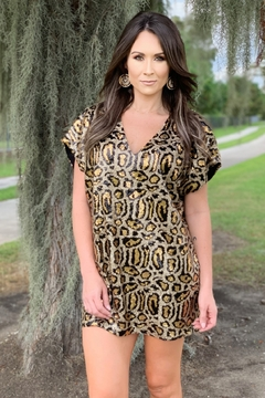 Buddy Love Aretha Sequin Leopard Dress - Product List Image