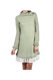 A'reve Areve Polka Dotted Long Sleeve Cowl Neck Dress - Product Mini Image