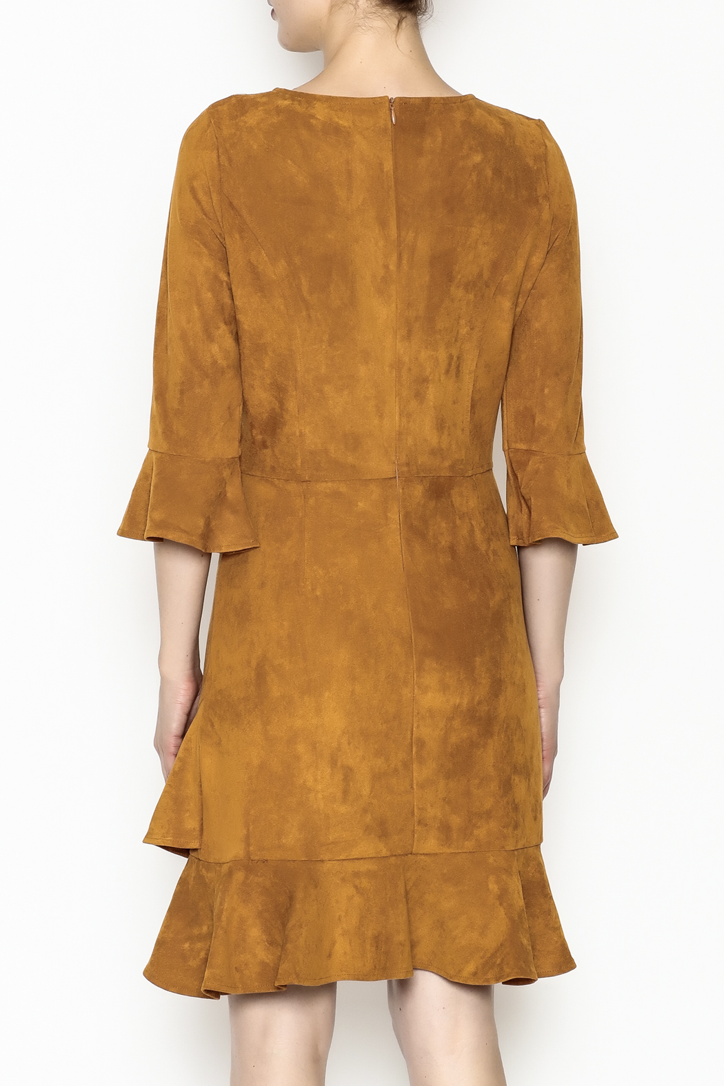 Areyah Faux Suede Dress - Back Cropped Image