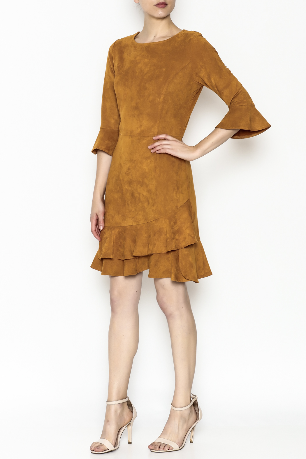Areyah Faux Suede Dress - Side Cropped Image