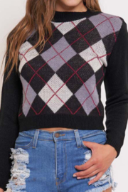 Better Be Argyle Sweater Top - Product Mini Image