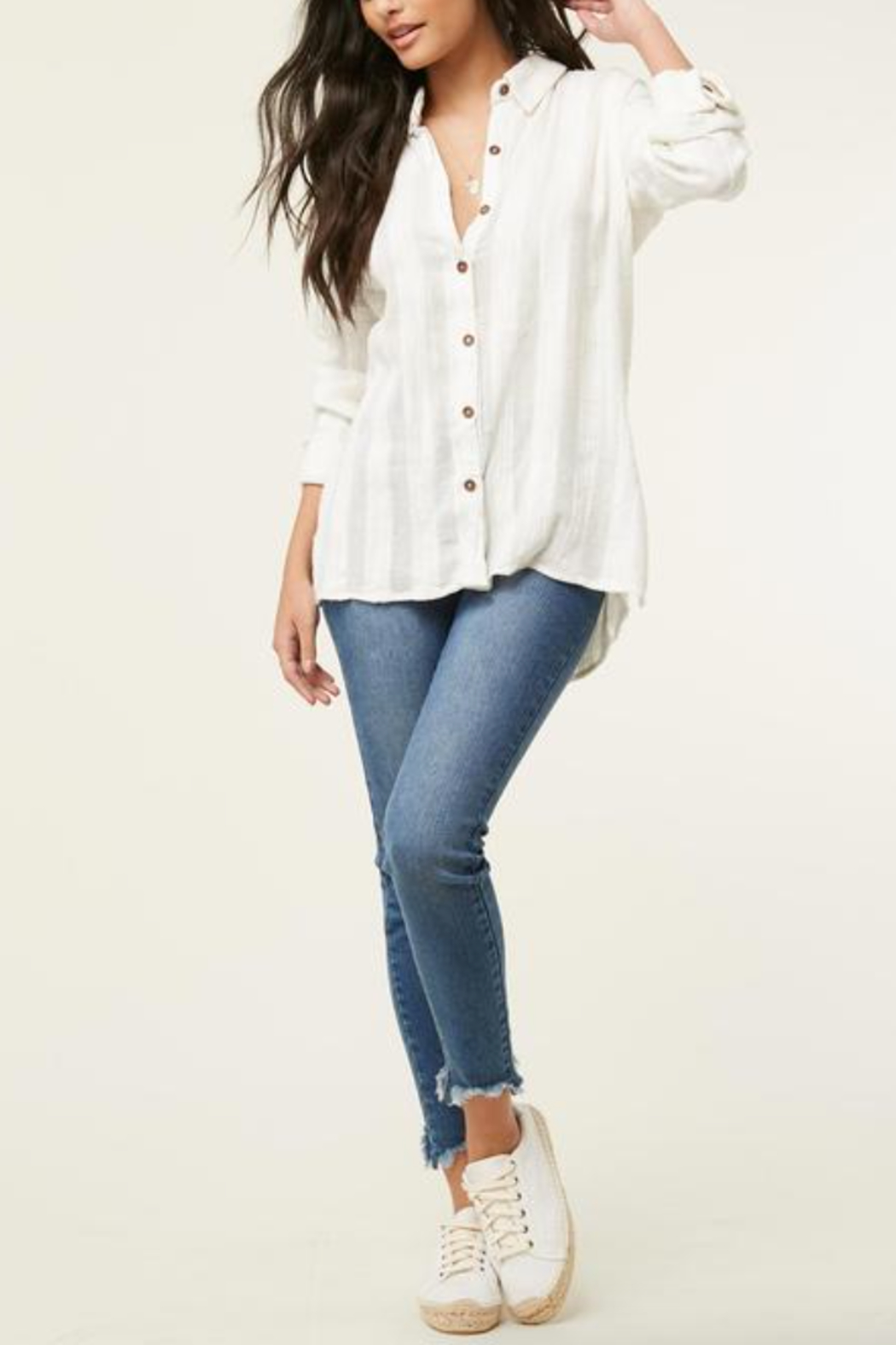 O'Neill Aria Button Down Top - Front Cropped Image