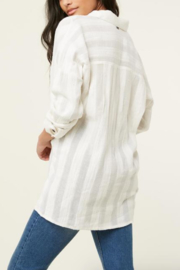 O'Neill Aria Button Down Top - Front full body
