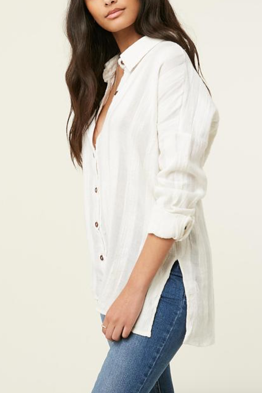 O'Neill Aria Button Down Top - Side Cropped Image