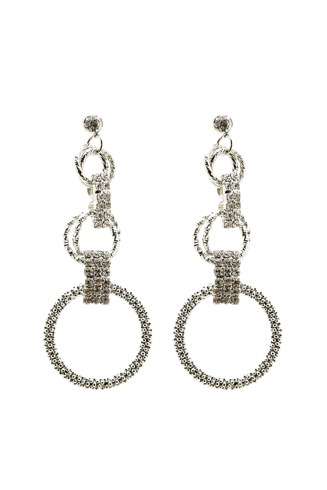 US Jewelry House Aria Circle Earring - Front Cropped Image
