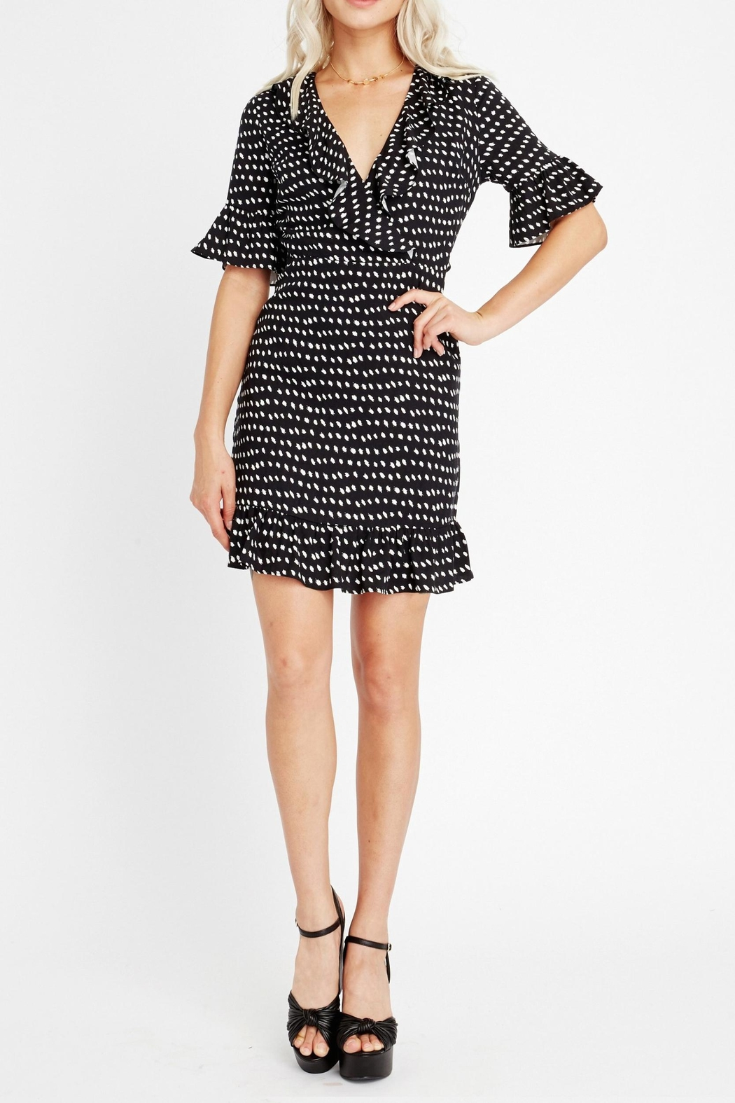 Lost + Wander Ariana Ruffle Dress - Side Cropped Image