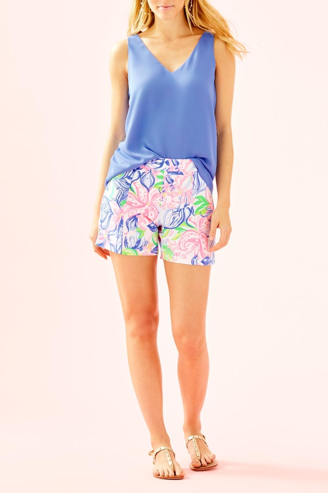 Lilly Pulitzer Ariana Stretch Short - Back Cropped Image