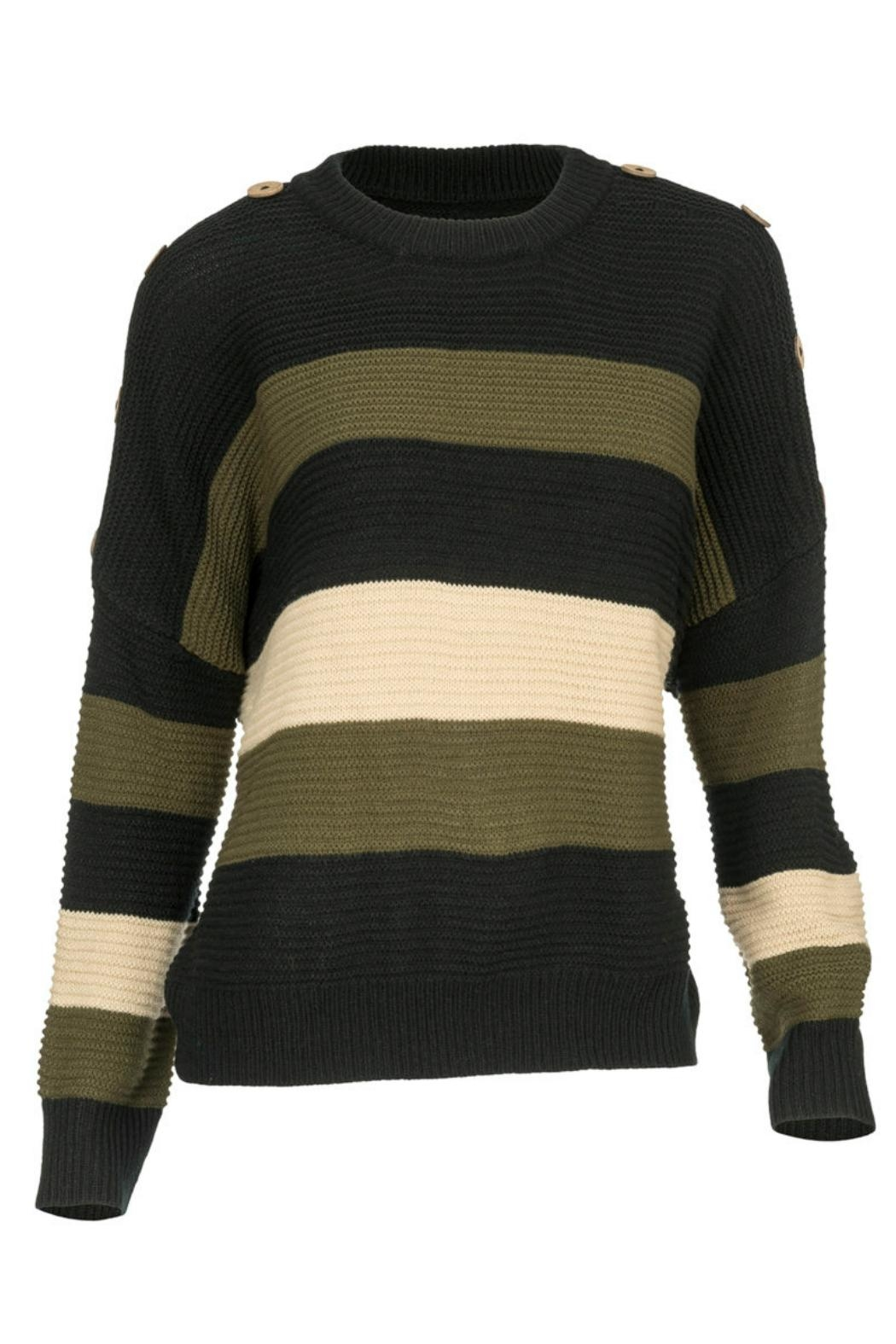 Arianna Button-Accent Pullover Sweater - Main Image