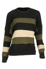Arianna Button-Accent Pullover Sweater - Product Mini Image