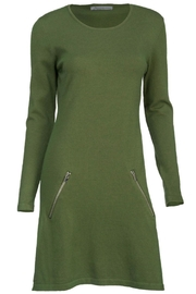 Arianna Green Sweater Dress - Product Mini Image