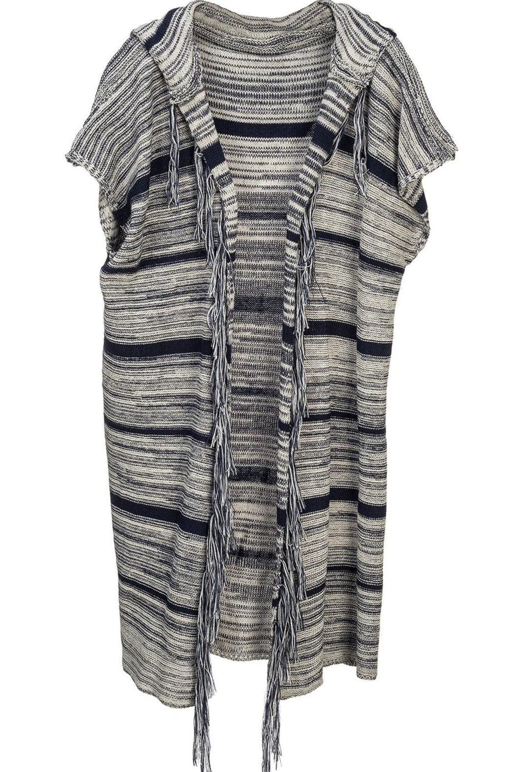 Arianna Hooded Striped Vest - Main Image
