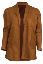 Arianna Microsuede Long Jacket - Product Mini Image