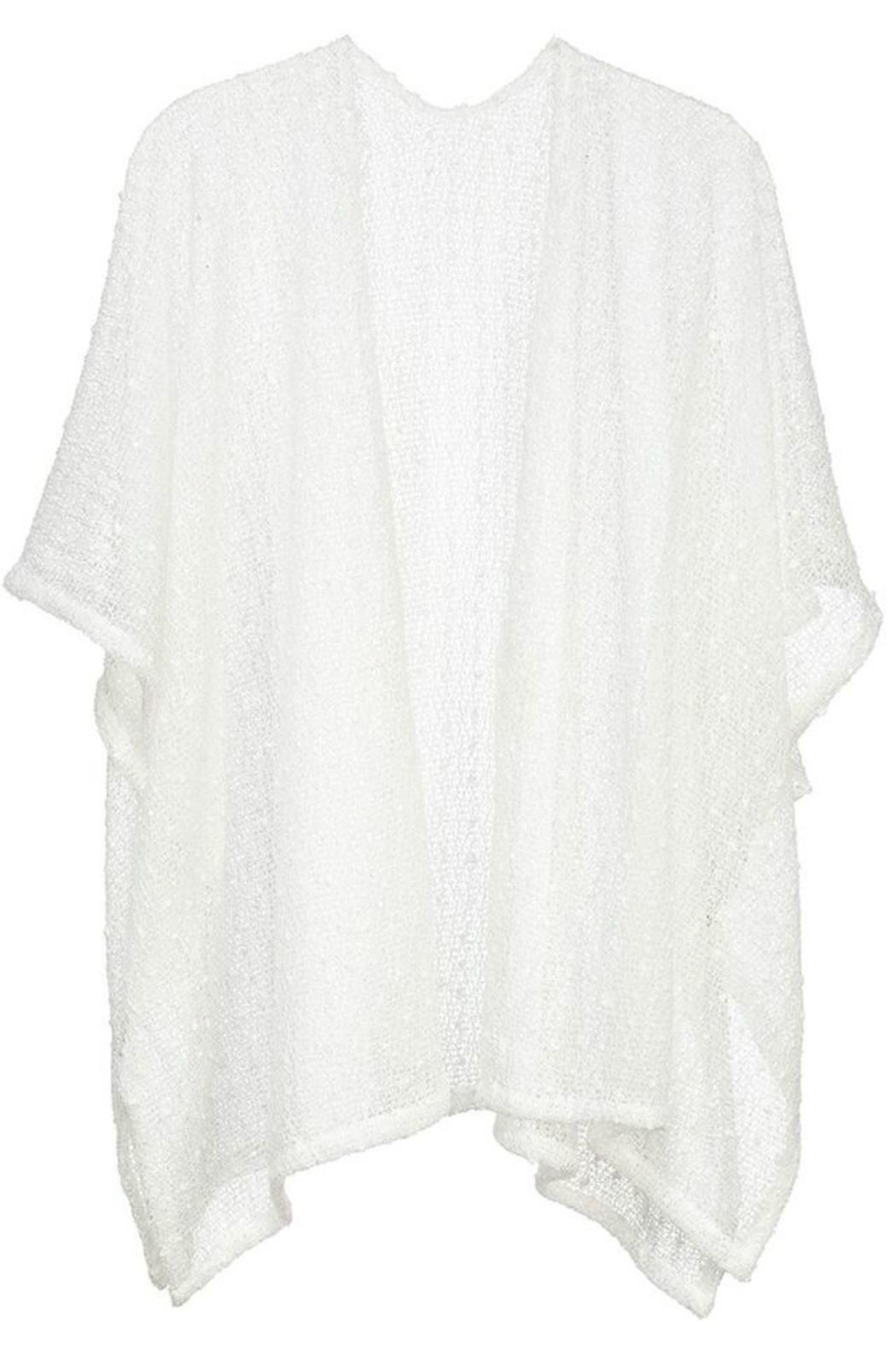 Arianna Sequin-Knit Lightweight Cardigan - Front Cropped Image