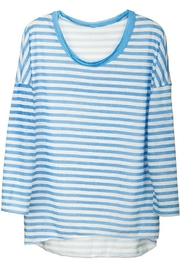 Arianna Striped Crew-Neck Top - Product Mini Image