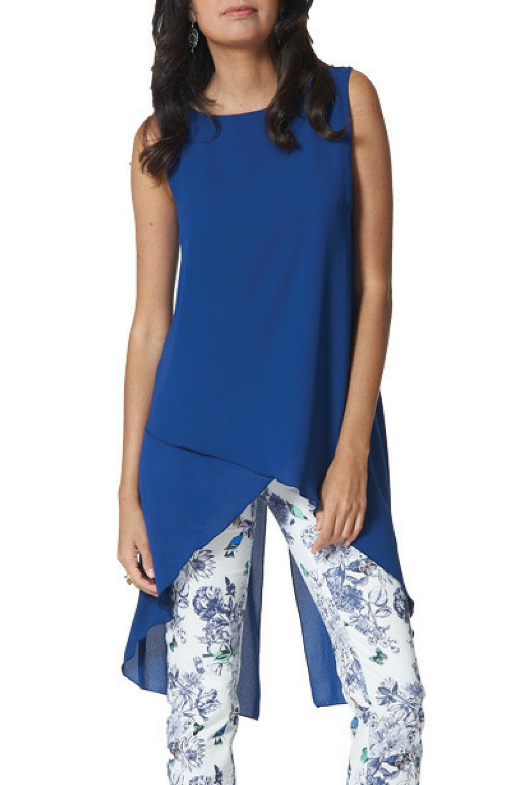 Arianne Clara Tunic Sapphire - Front Cropped Image