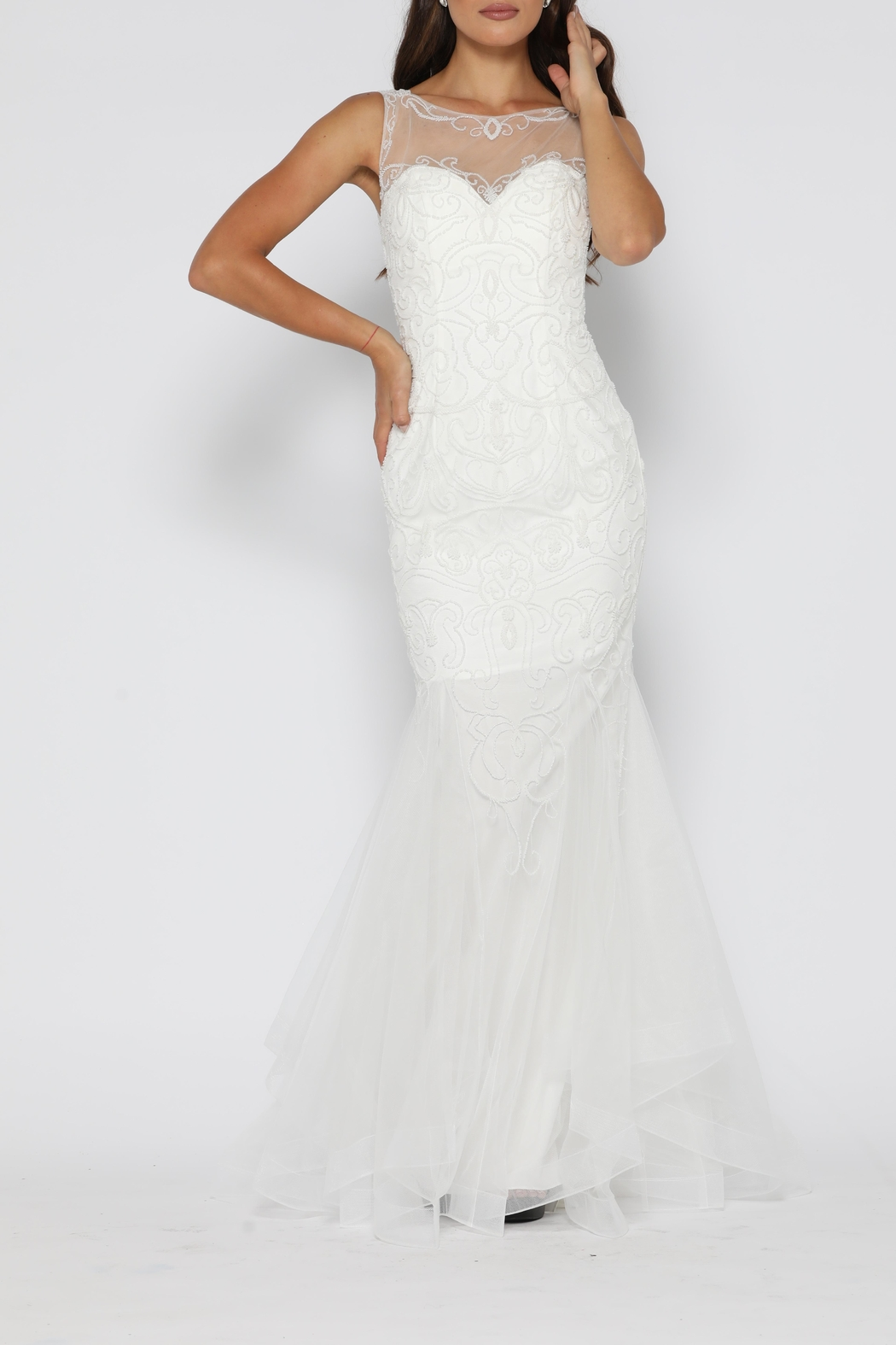 Jadore Ariel Gown Ivory - Front Full Image