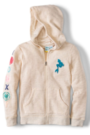 Roxy Ariel My Fins Zip-Up Hoodie - Front cropped