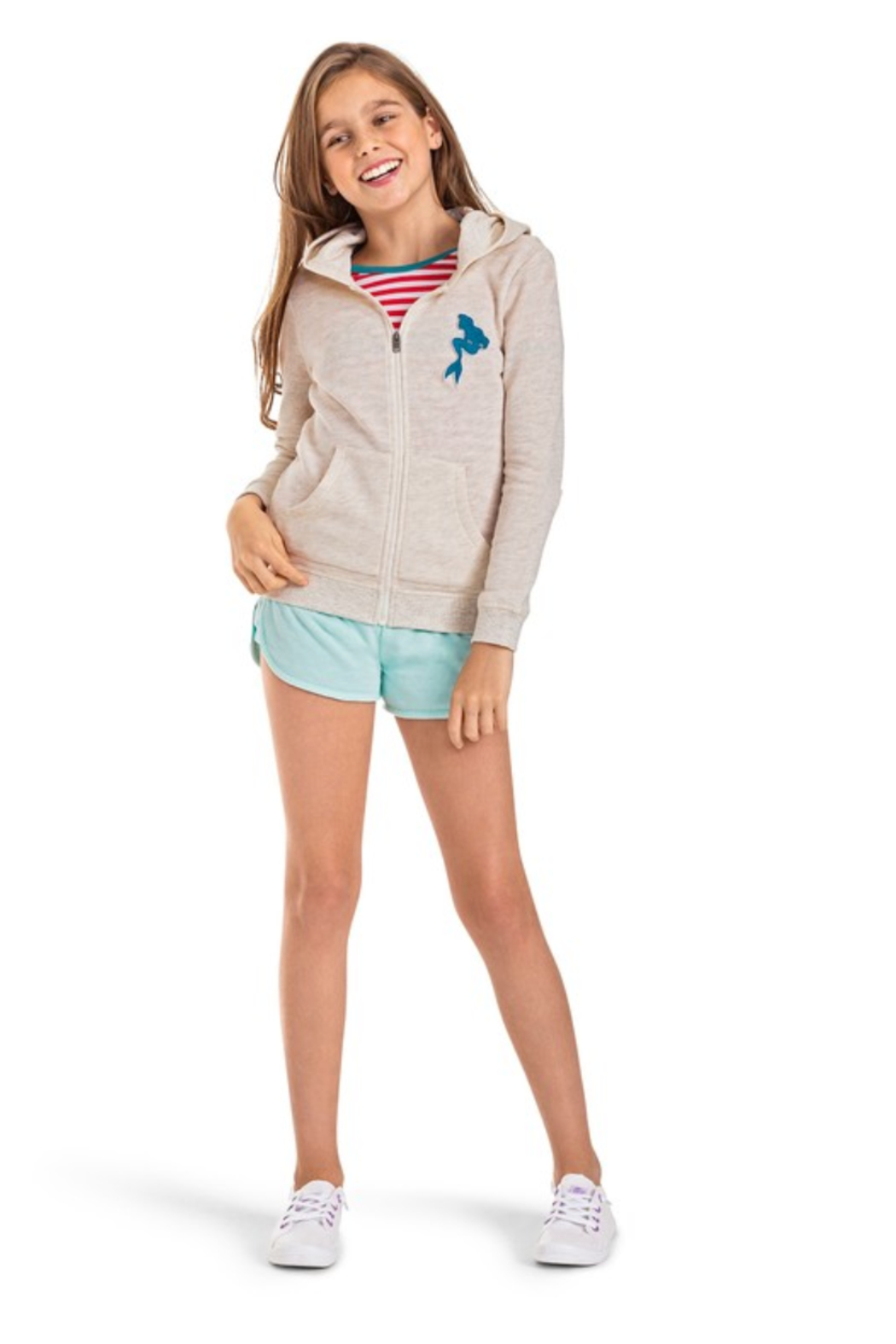 Roxy Ariel My Fins Zip-Up Hoodie - Side Cropped Image