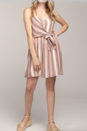 Everly Ariel Stripe Wrap Dress - Product Mini Image