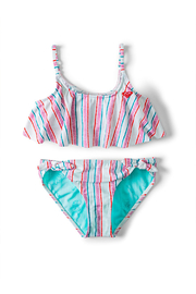 Roxy Ariel Treasure Stripe Flutter Bikini Set - Product Mini Image