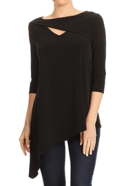 Ariella Asymmetric Cut Out Top - Front cropped