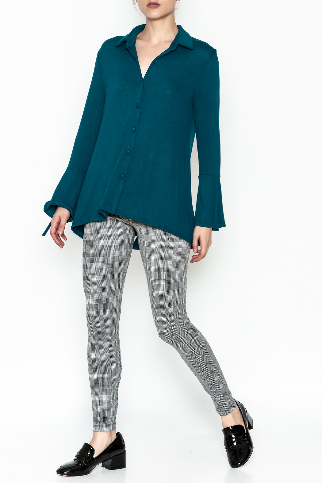 Ariella Button Down Top - Side Cropped Image