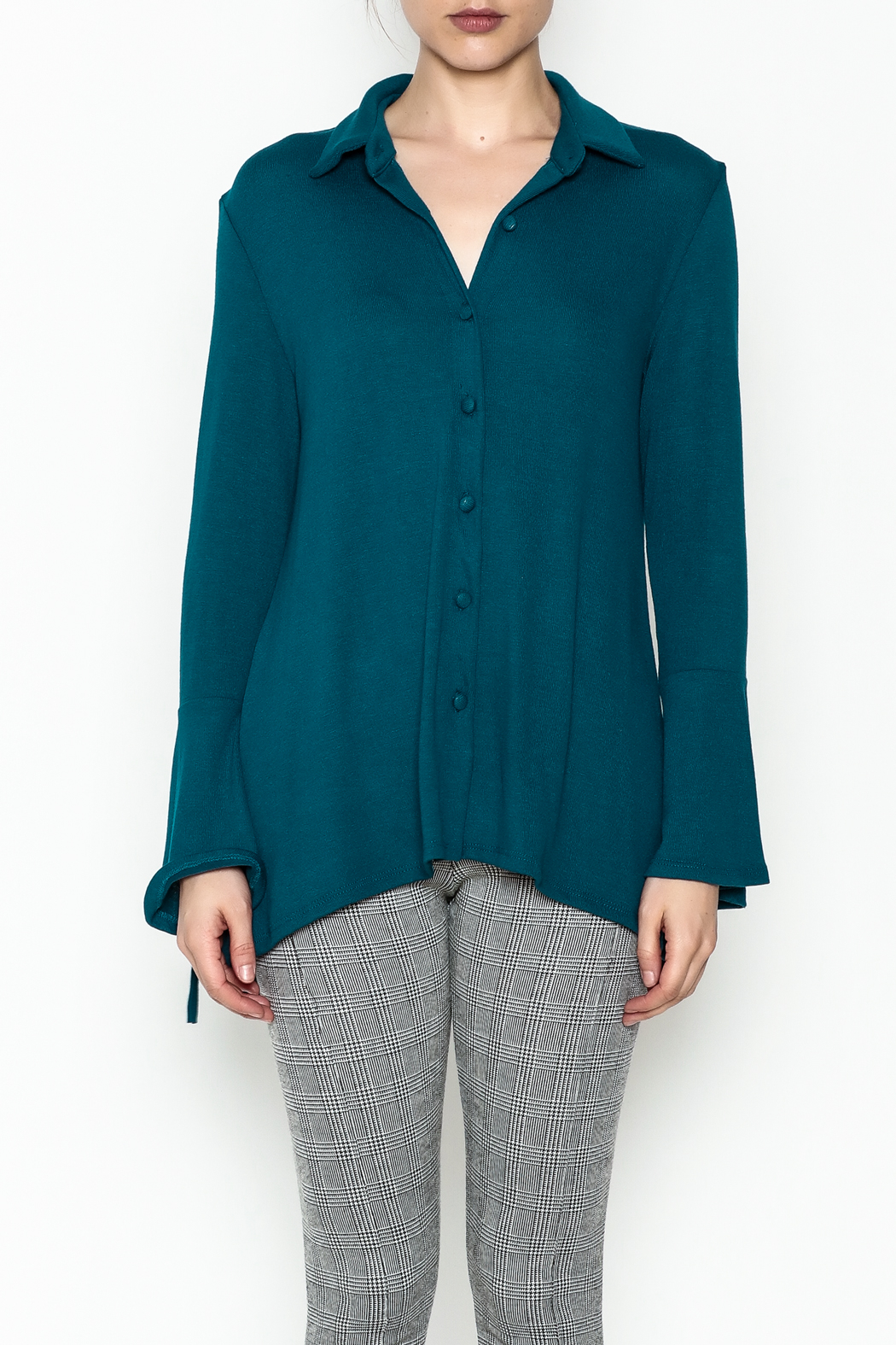 Ariella Button Down Top - Front Full Image