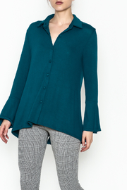Ariella Button Down Top - Front cropped