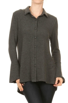 Ariella Collared Lace-Up Top - Product List Image