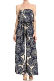 Ariella Floral Strapless Jumpsuit - Front cropped