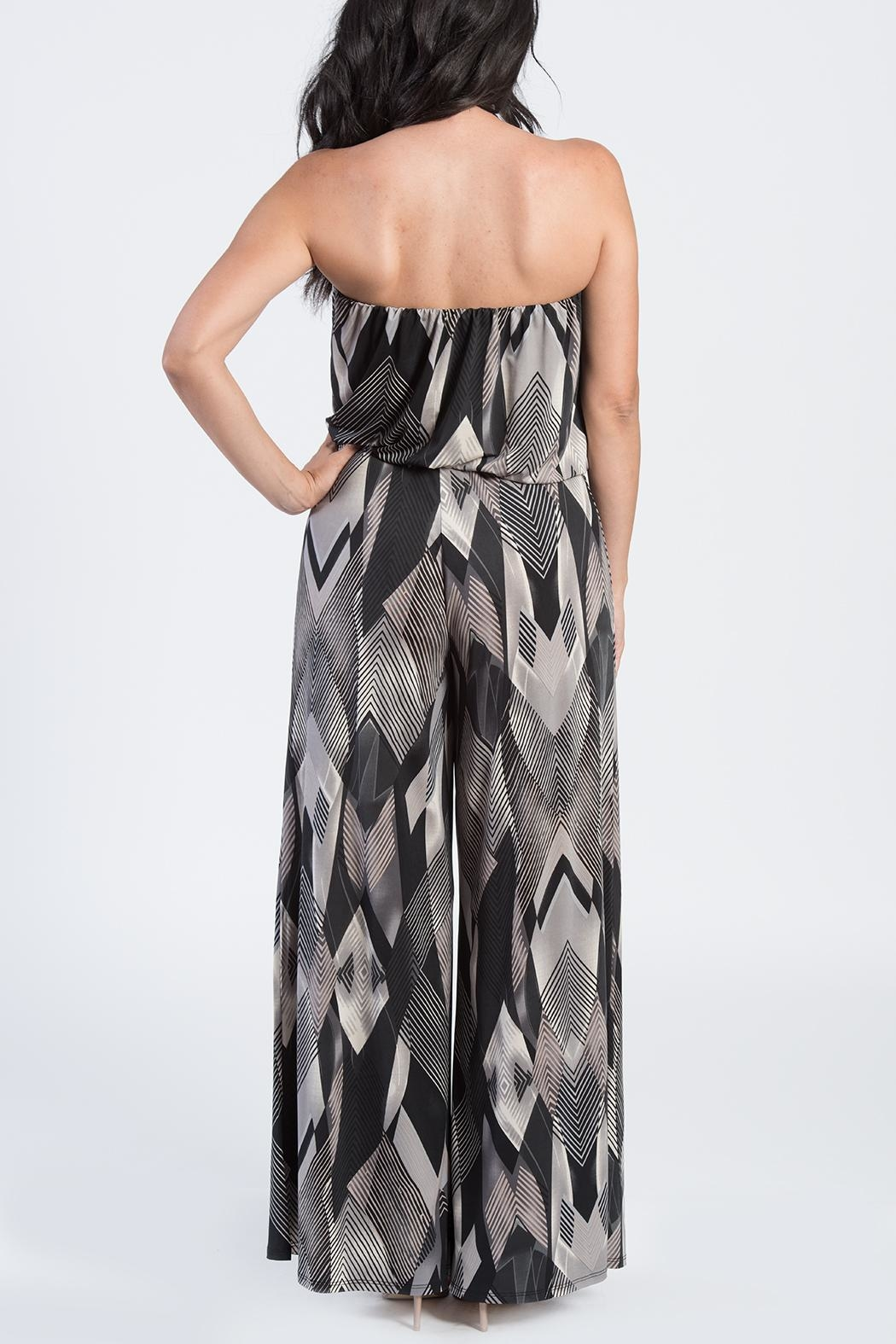 Ariella Geometric Strapless Jumpsuit - Front Full Image
