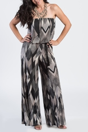 Ariella Geometric Strapless Jumpsuit - Front cropped
