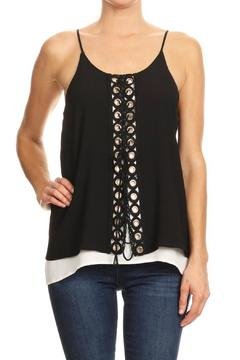 Shoptiques Product: Grommet Layered Tank