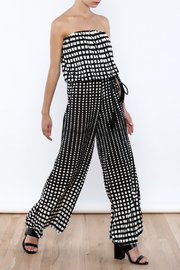 Ariella Geometric Strapless Jumpsuit - Product Mini Image