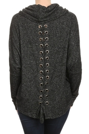 Ariella Lace-Up Back Sweater - Front full body