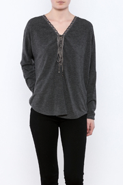 Ariella Lace-Up Grommet Top - Product Mini Image