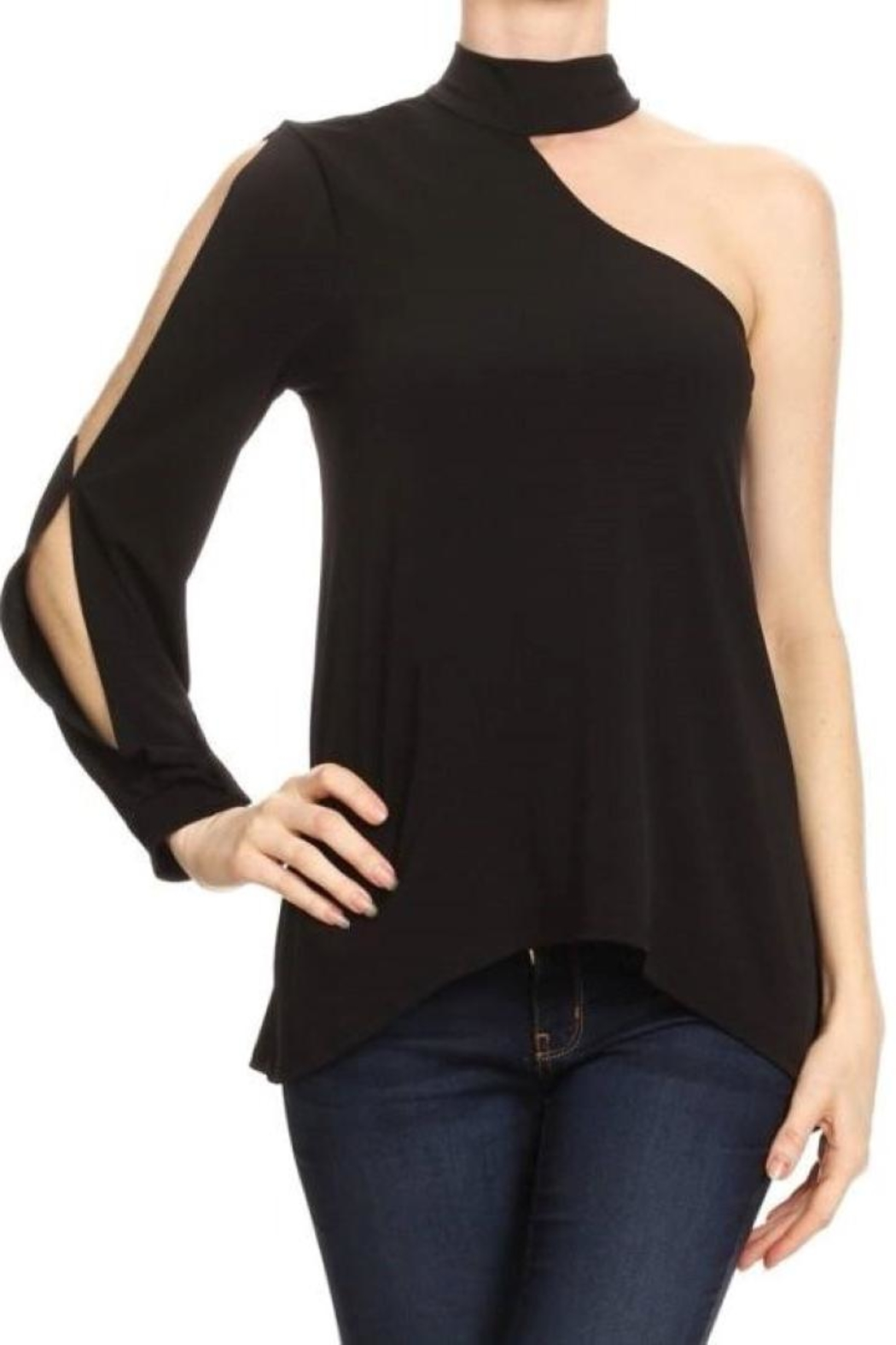Ariella One Shoulder Choker - Front Cropped Image