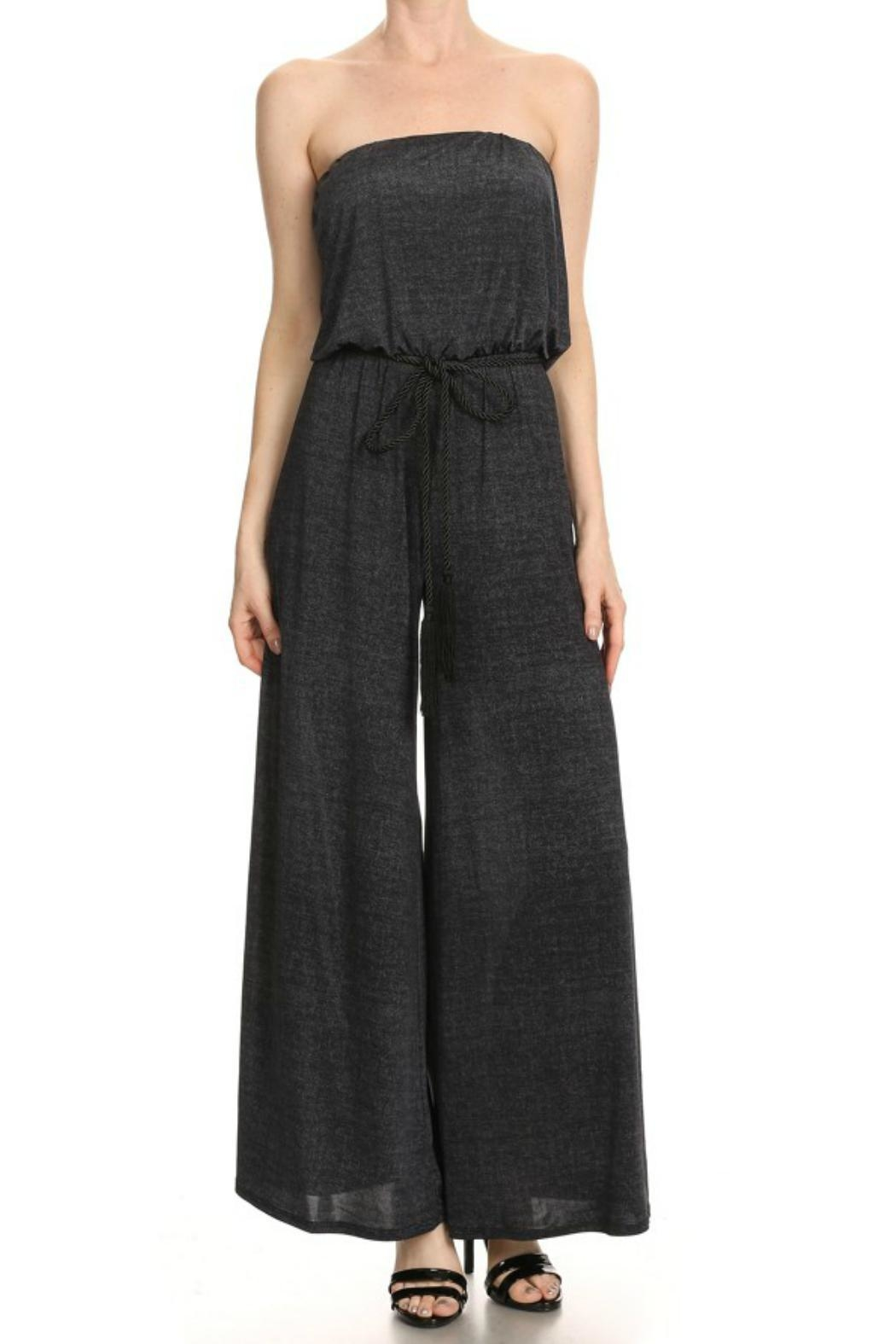 Ariella Strapless Belted Jumpsuit - Front Cropped Image