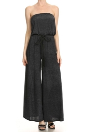 Ariella Strapless Belted Jumpsuit - Front cropped