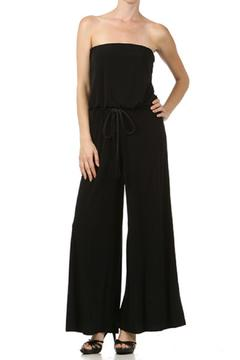 Shoptiques Product: Strapless Belted Jumpsuit