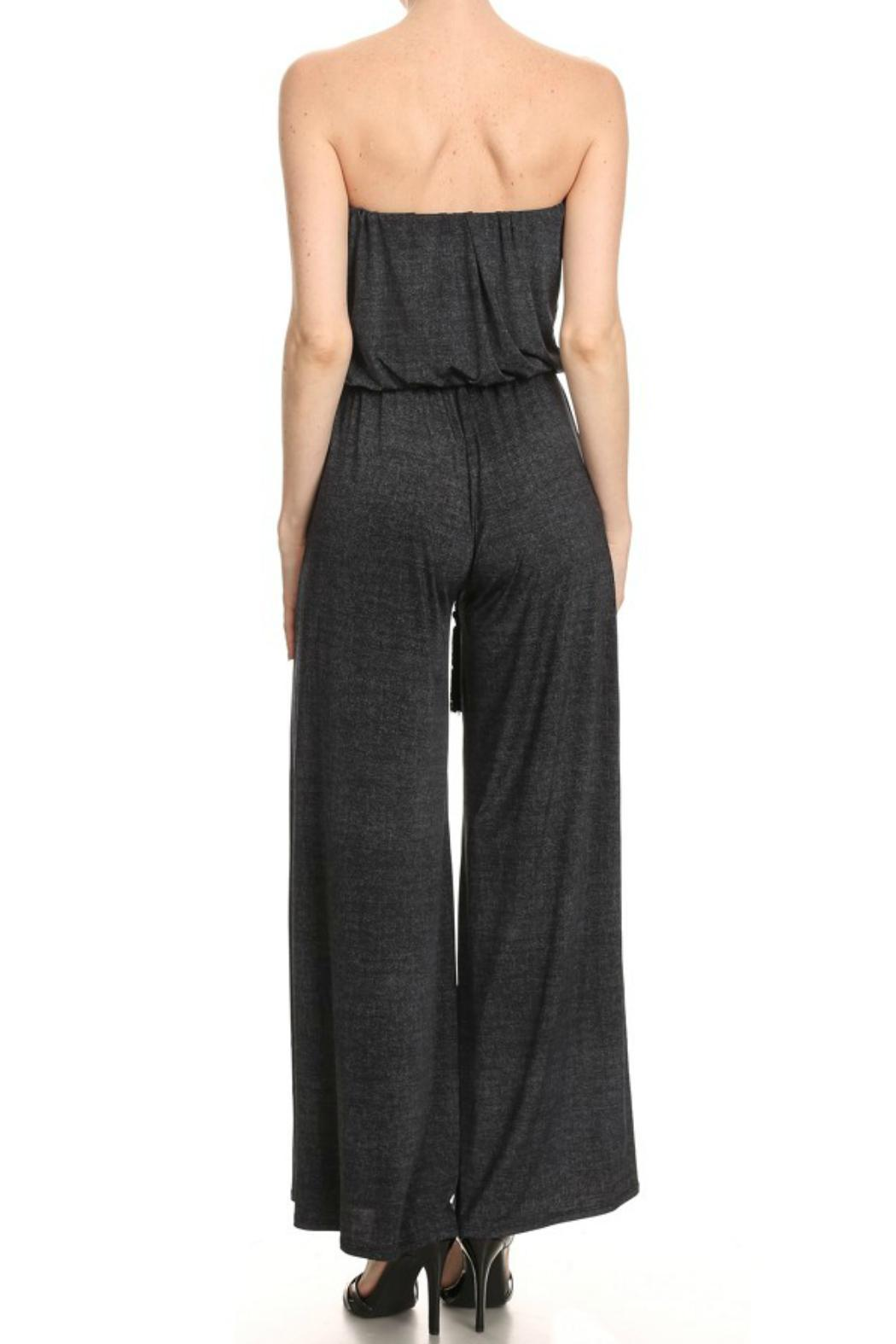 Ariella Strapless Belted Jumpsuit - Front Full Image