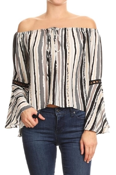 Shoptiques Product: Striped Flirty Top