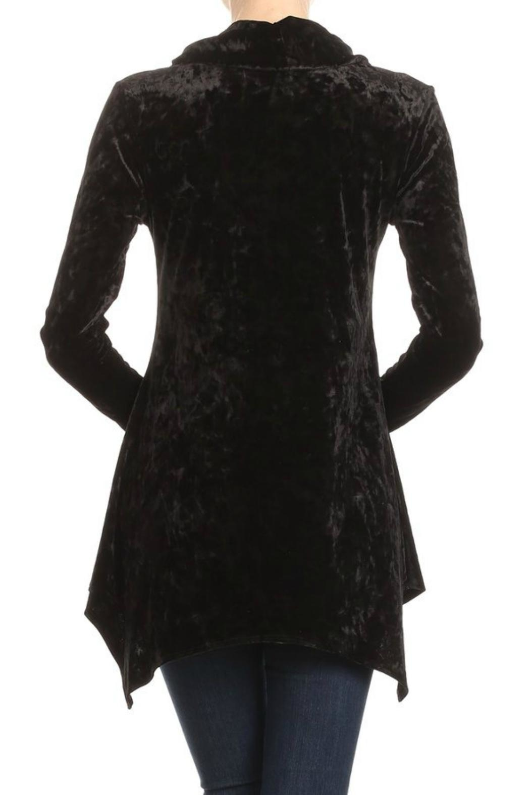 Ariella Velvet Trapeze Top - Side Cropped Image