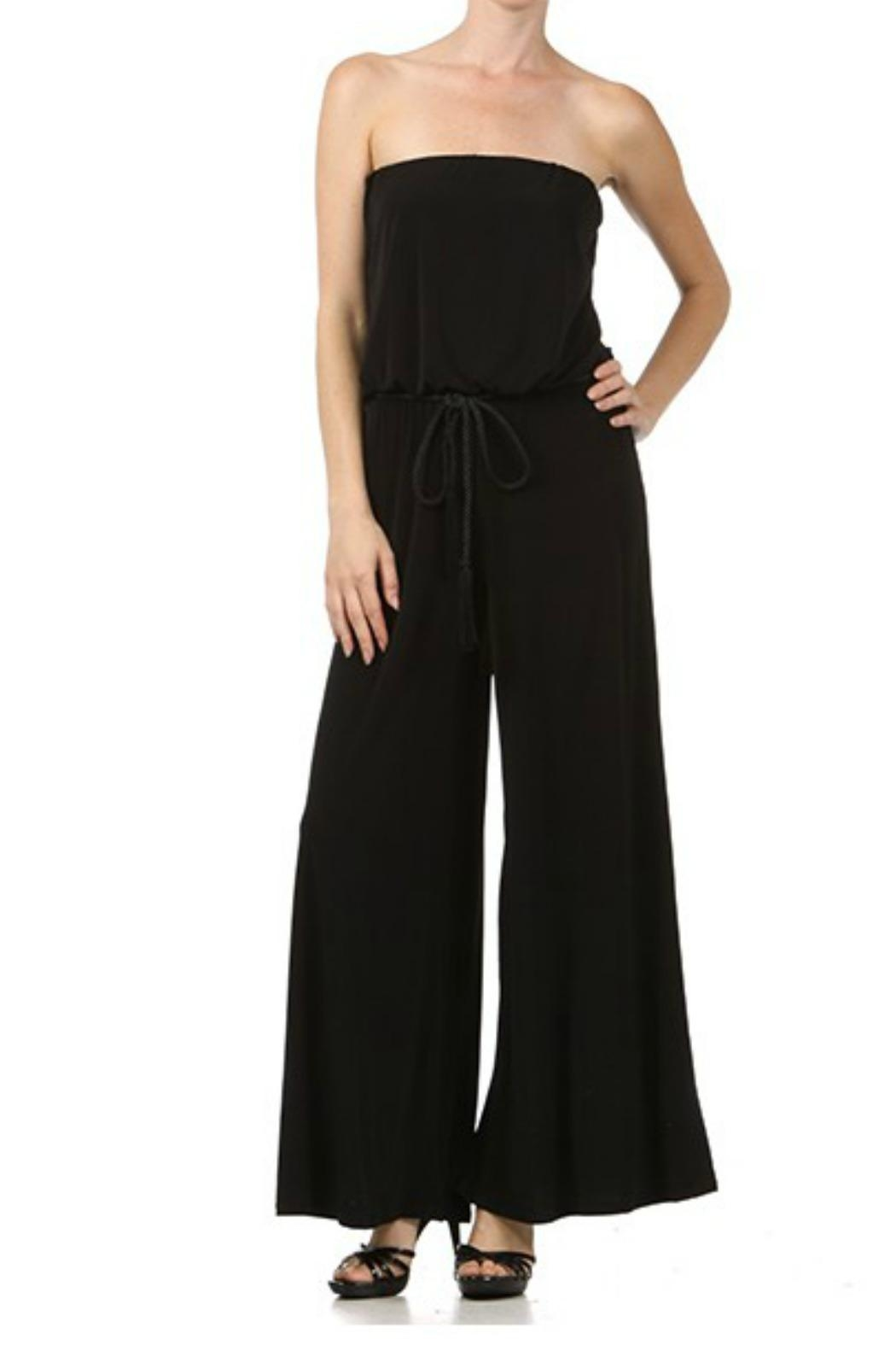 Ariella Wide Leg Jumpsuit - Front Cropped Image
