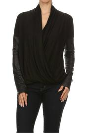 Ariella Wrap Pleather Top - Product Mini Image