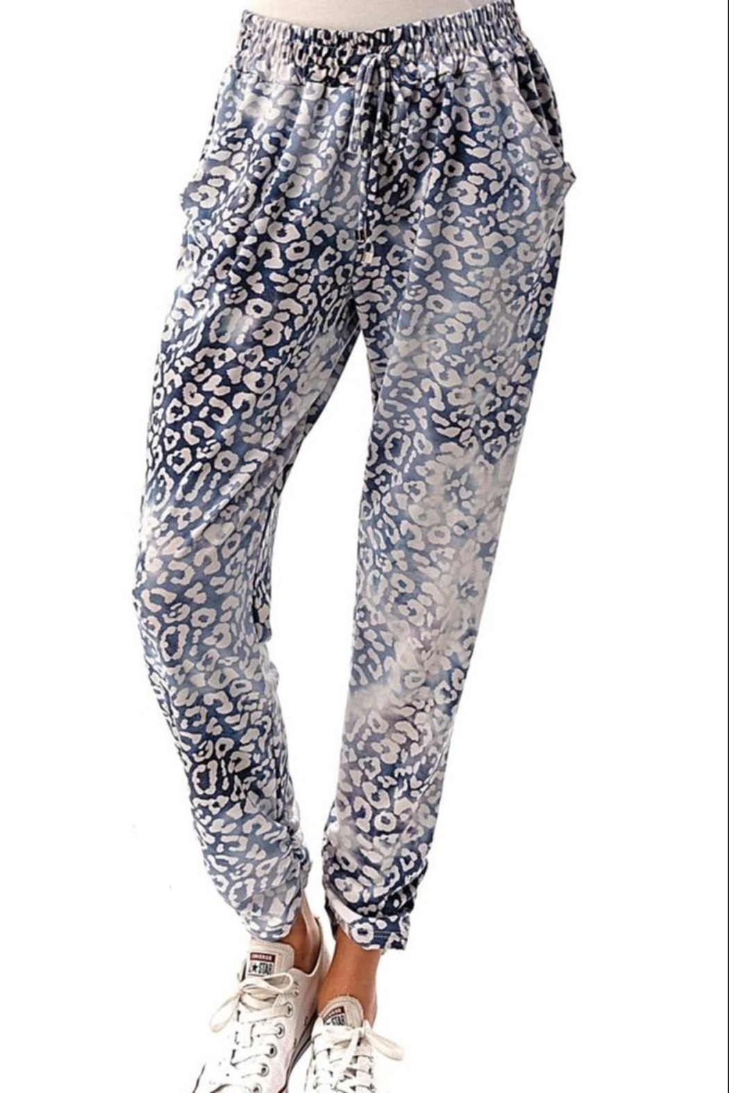 Ariella USA Leopard Jogger Pants - Front Cropped Image
