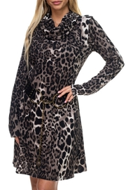 Ariella USA Leopard Knit Cowl Dress - Product Mini Image