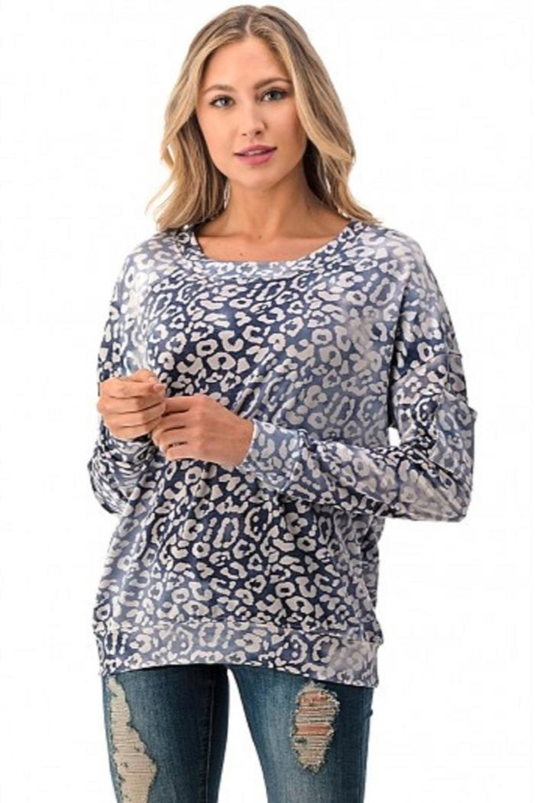 Ariella USA Leopard Relaxed Top - Main Image